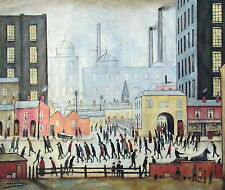 """Coming From the Mill"", L.S. Lowry, Reproduction in Oil, 24""x20"""