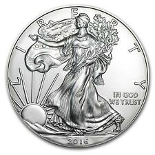 2016 American Silver Eagle gem BU with Eagle 2x3 Frosty Case Coin Holder