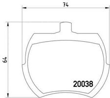 MLB37 M1144 Mintex Bremsbelagsatz Scheibe Bremse Vorne