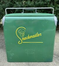 Vintage Snackmaster Cooler, Beer And Cola Cooler, Collectable Portable Cooler