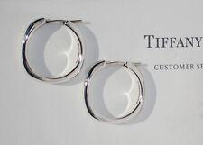 Tiffany & Co Cuscino Orecchini a Cerchio Piccolo Argento Sterling