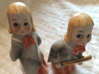 Vintage Norcrest Baseball Choir Girls Figurines