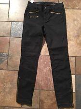 Nwts!!! Women's J. Crew Toothpick Black Pants Sz 26 Inseam 28.5