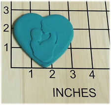 Mother Kissing Baby Forehead in Heart Fondant Cookie Cutter and Stamp #1314