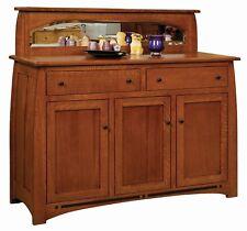 "Amish Arts & Crafts Craftsman Sideboard Buffet Solid Wood Boulder Creek 59"""