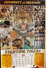 Vintage 1979 UNIVERSITY OF MISSOURI Calendar FIGHTING TIGERS College Sports Team
