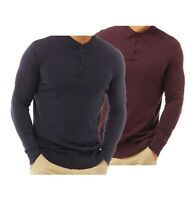 Mens Brave Soul Cotton Long Sleeve Knitted Polo Shirt Sizes from S to XXL