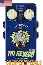 NEW BIYANG TRI REVERB RV10 RV-10 Stereo Guitar Effects Pedal FREE Shipping