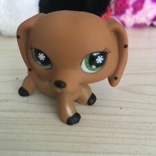 LITTLEST PET SHOP monopoly Brown Dog Dachshund  GREEN EYES  LPS Figure#NO
