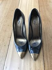 YSL Black And Gold Classic Stilettos Size 40 / 9