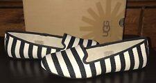 New UGG Australia Alloway Stripe Women's Flats Shoes NIB Black/White US 11/EU 42