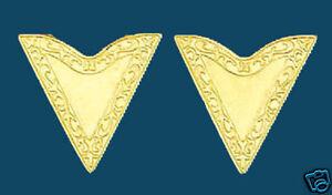 New! Western Collar Tips - Gold - Screw On 1-1/4 along edge Screw On