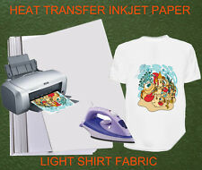 20sheets A4 Iron Heat Transfer Paper For The Light Cotton Shirt