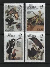 Gambia 1986 Birds J Audubon SG 581/4 MNH
