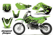 Decal Graphic Kit Wrap For Kawasaki KLX 110 2002-2009 KX 65 2002-2018 DFLAME K G
