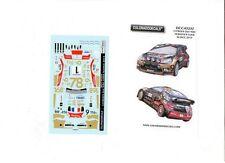 NEW ! DECALS 1/43 CITROËN DS3 WRC #1 S.LOEB ALSACE 2013 - COLORADO  43237