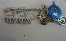 Disney Blue Pumpkin Coach Cinderella and Prince Charming Horses Coach pin LE 250