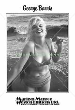 Marilyn Monroe Norma Jeane George Barris Signed Autograph Poster Feelin The Surf