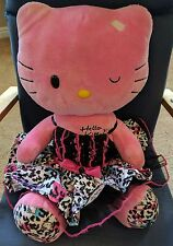Hello Kitty Build-A-Bear Plush Doll SHE LAUGHS! Pink Winking w/ Dress, Underwear