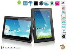 "Tablette PC Tactile 7"" Android Capacitif Caméra  WIFI HD 1080P 3D USB 4GB"