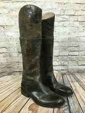 """STEVEN by Steve Madden """"REINS"""" Brown Leather Distressed Knee High Boots 6 M"""