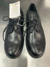 Geox Children's Agata Lace-Up Brogue Shoes, Black Size 32