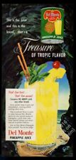 1952 Del Monte pineapple juice tropical sea cave art vintage print ad