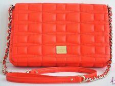Kate Spade Purse Crossbody Shoulder Bag Clutch Orange Quilted Signature Leather