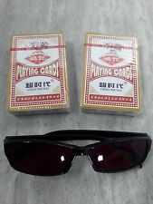 Factory Marked Poker Playing Cards and Special Sun Glasses
