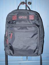 Großer BREE Rucksack Nylon/Lederdetails Laptop