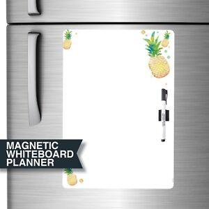 Magnet Fridge Whiteboard. All-purpose Magnet Planner + Marker & Magnetic Clip.