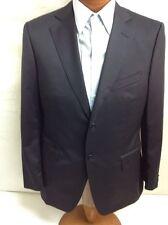 New Z Zegna Black Wool 2-Bt Suit 42L/W36 EU 52L.