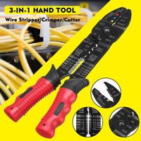 Multi-Tool Automatic Wire Cable Stripper Cutter Crimping Plier Electrical