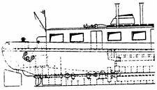 Bauplan Gütermotorschiff Modellbauplan Schiffsmodell Binnenschiff