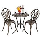 3pcs Patio Bistro Furniture Set Outdoor Garden Iron Table Chair European Style