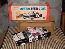 BANDAI BATTERY OPERATED, TIN BUICK HIGH WAY PATROL CAR W/ORIGINAL BOX & WORKING!
