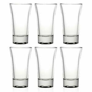 6x Shot Glass Glasses 60ml Liquor Drinks Serving Party Bar Glassware Gift Set