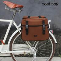 Tourbon 2 Extendable Motorcycle Saddlebags Waterproof Bike Pannier Messenger Bag