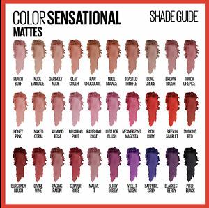 Maybelline Color Sensational The Mattes Lipstick Makeup - Choose your Shade