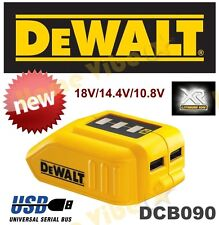 NEW DEWALT DCB090 USB CHARGING BATTERY ADAPTER POWERBANK MULTI-VOLTAGE - RRP$149