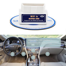 Super WiFi OBD2 Car Diagnostics Scanner Scan Tool for iPhone iOS Android PC New