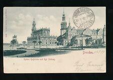 Germany DRESDEN Kathol Hofkirche Scloss Used 1899 u/b PPC
