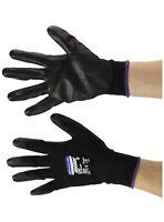KLEENGUARD G40 Nitrile Coated Gloves, Large/Size 9, Black, 12 pairs