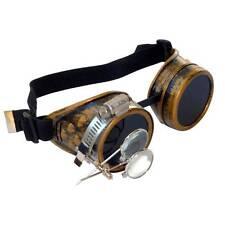 Steampunk goggles Zombie welding diesel punk biker goth cosplay rave lens CG D