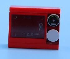 Lego red microwave for Minifigures or display Assorted Lego Bricks Pieces