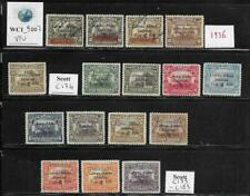 WC1_9007. NICARAGUA. Nice lot of 1936-37 air mail stamps & sets. Used