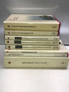 Vintage Hardcover Book Lot Reference Hardware Design Script Inside Macintosh