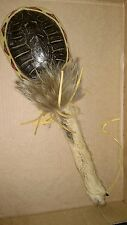 VINTAGE Cherokee Ceremonial Native American Large Coyote Turtle Shell  Rattle