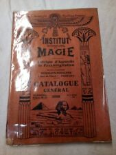 Institut internanional de Magie - Catalogue 1933