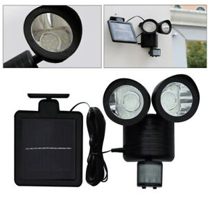 Garden Solar Motion Sensor Light 22LEDs Garage Outdoor Security Flood Spot Light